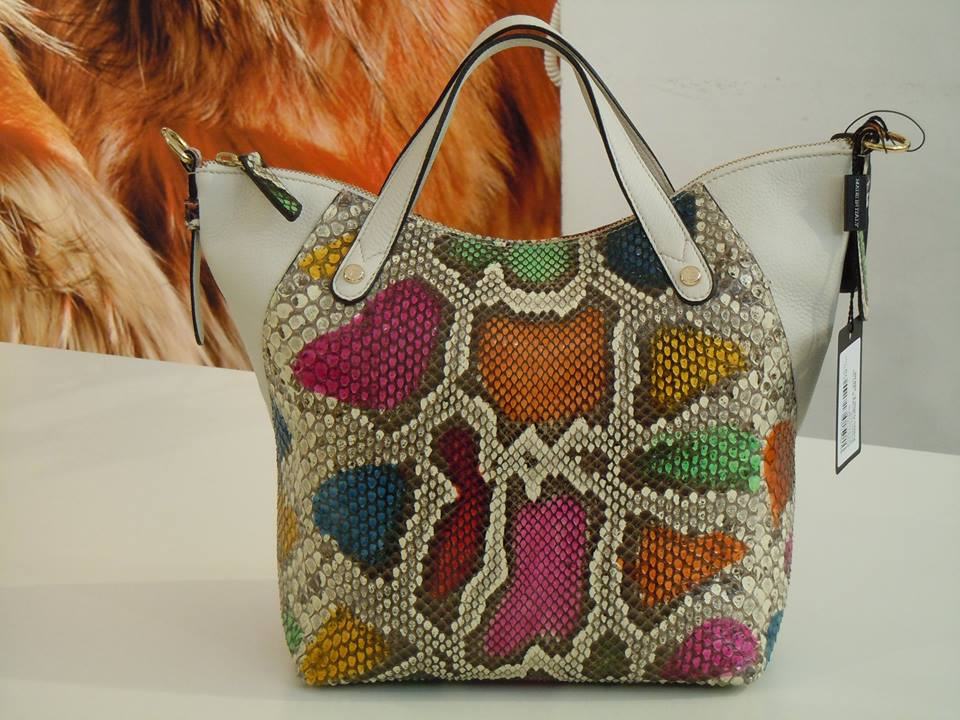 Borsa in pitone multicolor